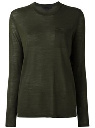 Alexander Wang Crew Neck Jumper Green