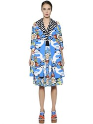 Antonio Marras Floral Printed Cotton Jacquard Coat