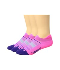 Feetures Elite Light Cushion No Show Tab 3 Pair Pack Sunrise Pink Pop No Show Socks Shoes