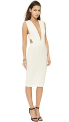 Solace London Margote Knee Length Dress White