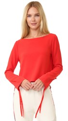 Edition10 Long Sleeve Top Fiery Red