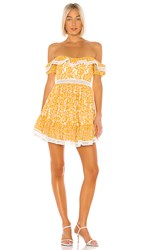 X By Nbd Bazzi Mini Dress In Yellow. Yellow And Ivory