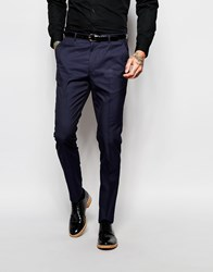 Asos Slim Suit Trousers In Tonic Navy