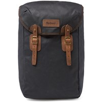 Barbour Wax Leather Backpack Blue