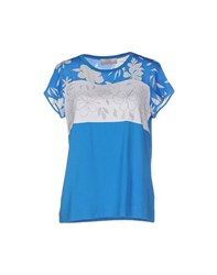 Vdp Club Topwear T Shirts Women Azure