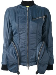 Dsquared2 Oversize Pocket Bomber Jacket Blue
