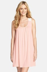 Women's Midnight By Carole Hochman Sleeveless Scoopneck Chemise Peach Applesauce