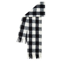 Hobbs Boucle Check Scarf Black White