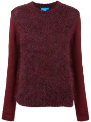 Mih Jeans Dawes Brushed Sweater Red