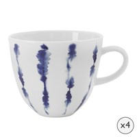 Amara Coast Porcelain Mugs Set Of 4
