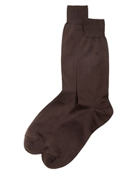 The Men's Store At Bloomingdale's The Men's Store At Bloomingdales Cotton Blend Dress Socks Brown