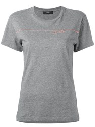 Diesel Heart Tine T Shirt Grey
