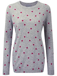 Pure Collection Hadleigh Cashmere Boyfriend Sweater Heather Dove Pink