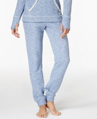 Lucky Brand Brushed Terry Pajama Jogger Pants Blue