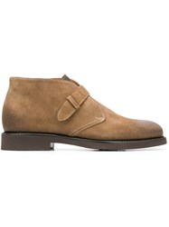 Doucal's Strap Ankle Boots Brown