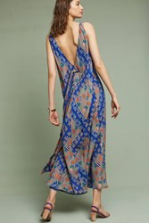 Anthropologie Vilira Low Back Dress Sapphire