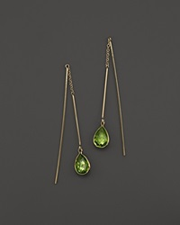 Bloomingdale's 14K Yellow Gold And Peridot Earrings Gold Green
