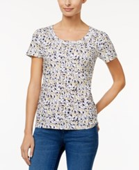 Charter Club Printed Cotton T Shirt Only At Macy's Lemon Yellow Combo