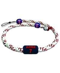 Game Wear Minnesota Twins Joe Mauer Frozen Rope Necklace Team Color