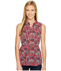 Woolrich Twin Pines Eco Rich Sleeveless Shirt Rhubarb Women's Sleeveless Red