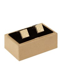 Burberry Shoes And Accessories Tonal Check Cufflinks Unisex Gold