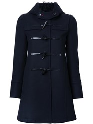 Loveless Hooded Duffle Coat Blue