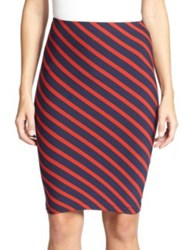 Karina Grimaldi Emilio Striped Pencil Skirt Santorini