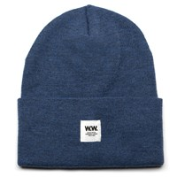 Wood Wood Blue Tall Beanie