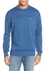 Men's Psycho Bunny Pima Cotton Crewneck Sweater Air Force Blue