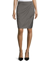 Laundry By Shelli Segal Wrap Style Woven Pencil Skirt Dark Sand