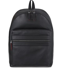 Hugo Boss Plain Leather Backpack Black