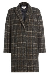 Zadig And Voltaire Printed Coat With Wool Alpaca Multicolor