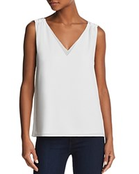 Cooper And Ella Ivy Double V Tank White