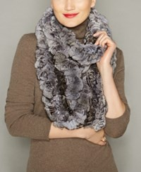 The Fur Vault Knitted Chinchilla Infinity Scarf Natural