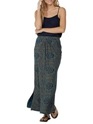 Fat Face Amber Linear Batik Maxi Skirt Blue Sea