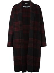 Rochas Plaid Single Breasted Coat Red