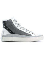 Crime London Euphoria Stars Sneakers Metallic