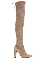 Stuart Weitzman 'Highland' Boots Nude And Neutrals