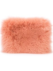 Brother Vellies Fur Clutch Women Fox Fur Leather One Size Yellow Orange