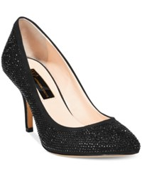 Inc International Concepts Zitah Pointed Toe Rhinestone Evening Pumps Women's Shoes Black