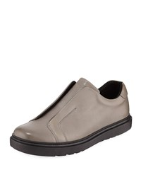 Karl Lagerfeld Laceless Leather Slip On Sneaker Gray