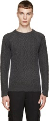 Diet Butcher Slim Skin Grey Two Tone Sweater