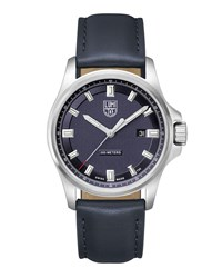 Luminox Dress Field Watch With Leather Strap Navy Silver