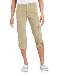 Sanctuary Cotton Stretch Cargo Pants Khaki