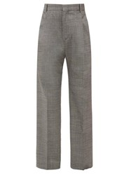 Hope Well Checked Wide Leg Trousers Grey