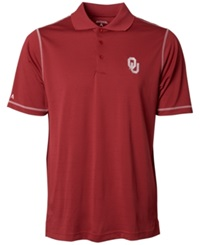 Antigua Men's Short Sleeve Oklahoma Sooners Icon Polo Shirt Crimson White