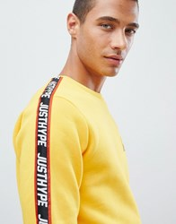 Hype Sweatshirt In Yellow With Taping