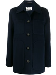 Acne Studios Overshirt Coat Blue