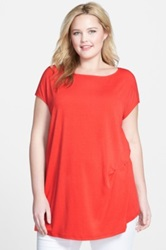 Chalet 'Olivia' Boatneck Top Plus Size Red
