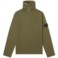 Stone Island Shadow Project Pure Cotton Roll Neck Knit Green